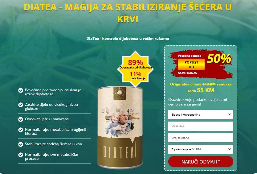 Diatea Cijena: Pomaže izlučivati višak tekućine iz tijela..