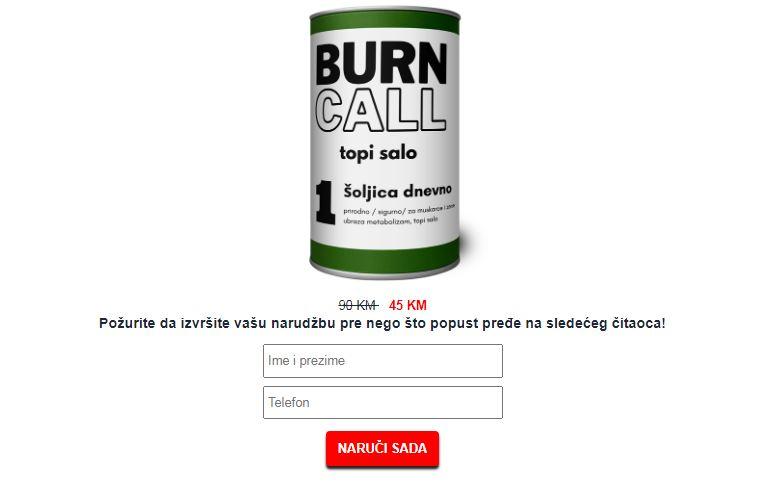 Burn Call čaj