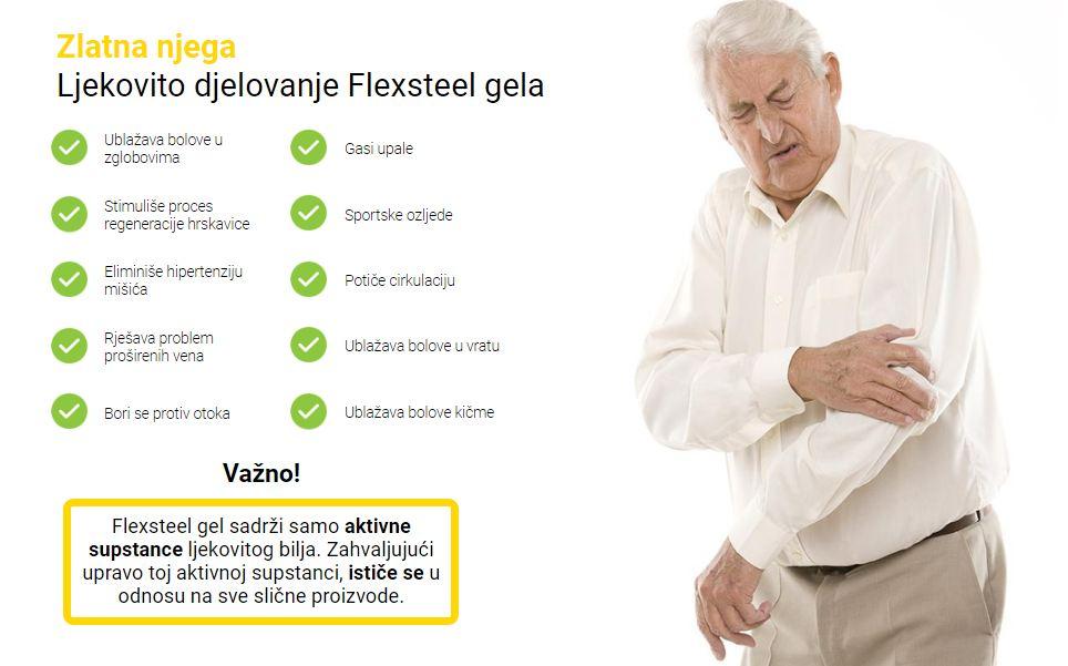 Zlatna njega Ljekovito djelovanje Flexsteel gela